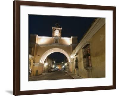 Santa Catalina Arch by Night, Antigua, UNESCO World Heritage Site, Guatemala, Central America-Sergio Pitamitz-Framed Photographic Print