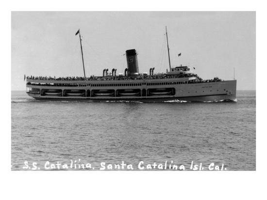Santa Catalina Island, California - SS Catalina Ship-Lantern Press-Art Print