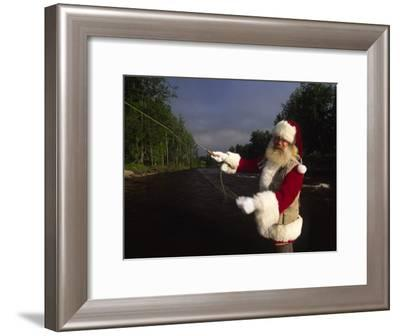 Santa Claus Fly Fishing-Michael Melford-Framed Photographic Print