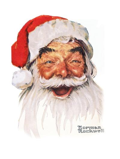 Santa Claus-Norman Rockwell-Giclee Print