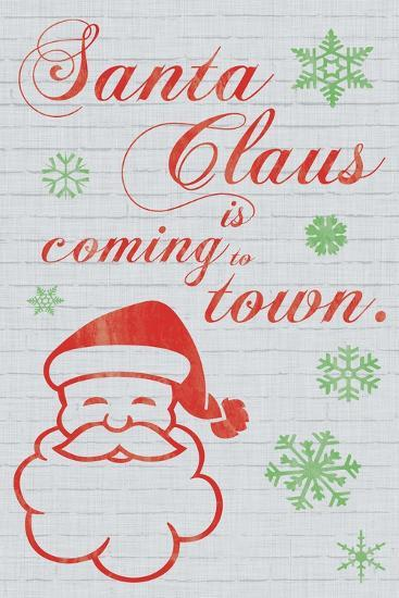 Santa Clause is Coming to Town-Lauren Gibbons-Art Print