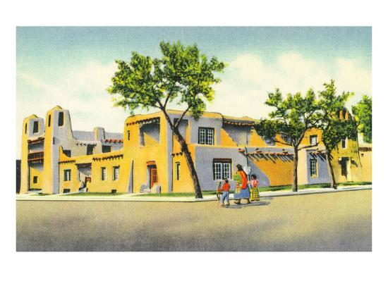 Santa Fe, New Mexico, Exterior View of the Art Museum-Lantern Press-Art Print