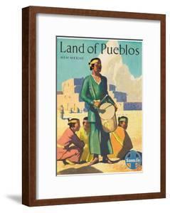 Santa Fe Railroad, Land of Pueblos, Native American Indians, New Mexico, 1950s