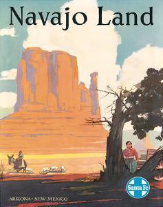 Santa Fe Railroad: Navajo Land, c.1954