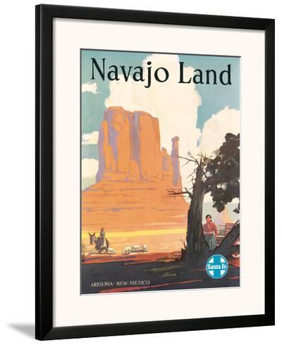 Santa Fe Railroad: Navajo Land, c.1954--Framed Giclee Print