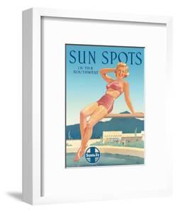 Santa Fe Railroad: Sun Spots in the Southwest, c.1950s