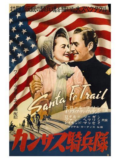 Santa Fe Trail, Japanese Movie Poster, 1940--Art Print