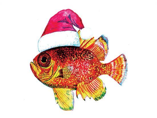 Santa Fish 2-T.J. Heiser-Art Print