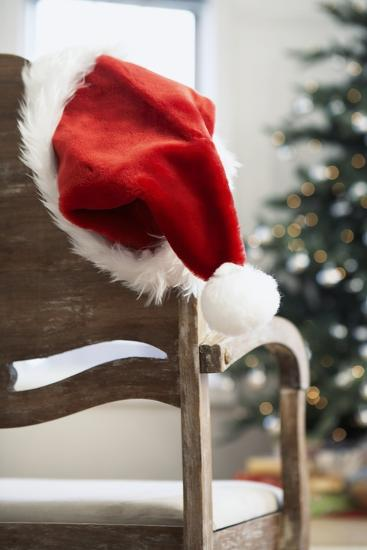 Santa Hat on Chair-Pauline St^ Denis-Photographic Print