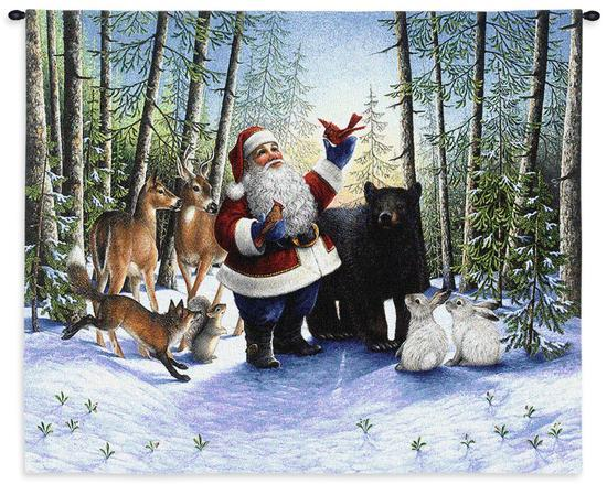 Santa in the Forest-Lynn Bywaters-Wall Tapestry