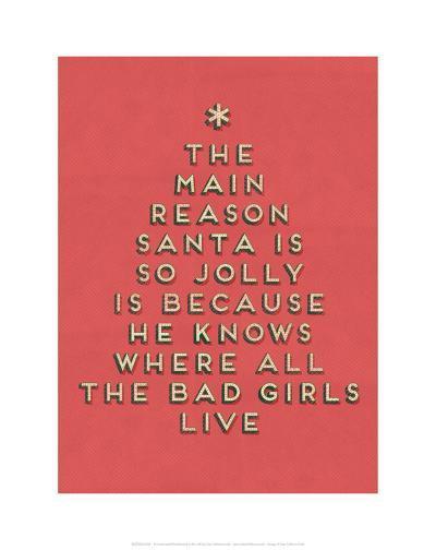Santa is Jolly--Art Print