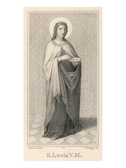 Santa Lucia Di Siragusa Sicilian Saint and Martyr--Giclee Print