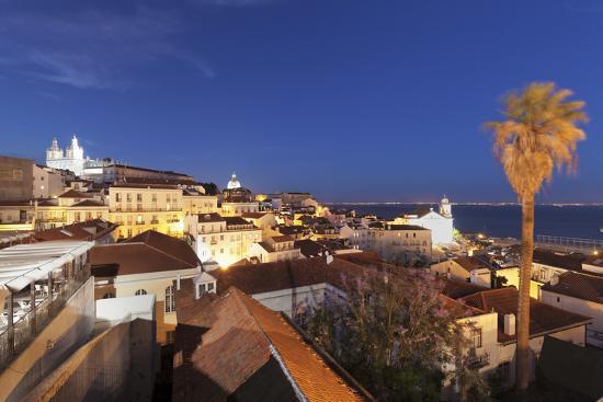 Santa Luzia viewpoint, Sao Vicente de Fora monastery, National Pantheon, Alfama district, Lisbon, P-Markus Lange-Photographic Print