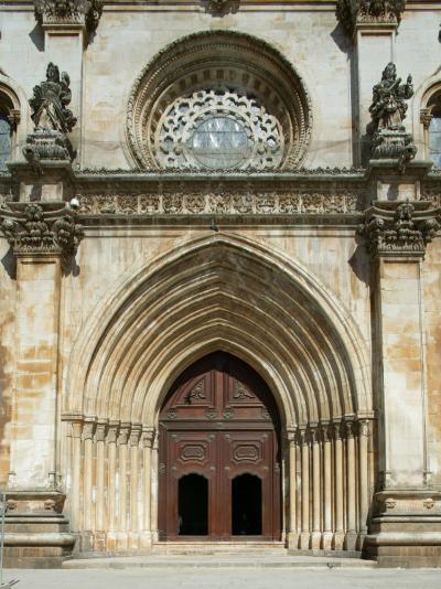 Santa Maria Abbey Door, Alcobaca, UNESCO World Heritage Site, Estremadura, Portugal, Europe-Godong-Photographic Print