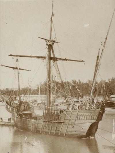 Santa Maria, Columbus' Ship--Photographic Print
