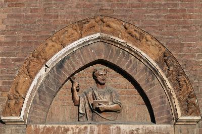 Santa Maria Del Carmine Church, Main Entrance, Decoration of Lunette, Pavia, Lombardy, Italy--Giclee Print