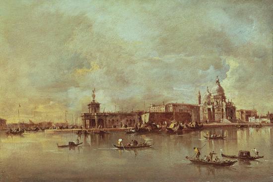 Santa Maria Della Salute Seen from the Mouth of the Grand Canal, Venice-Francesco Guardi-Giclee Print