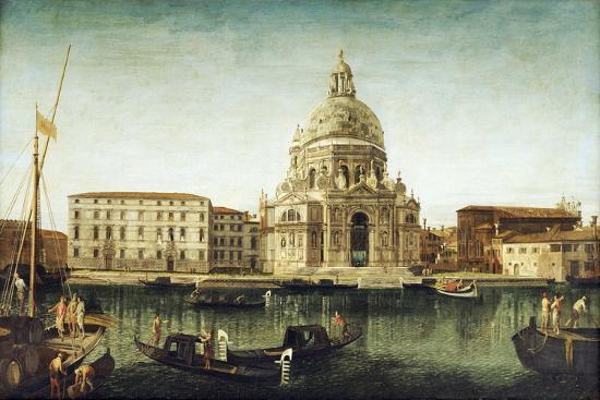 Santa Maria Della Salute, Venice, with Gondolas on the Grand Canal-Michele Marieschi-Giclee Print