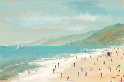 Santa Monica Beach-Pete Oswald-Art Print