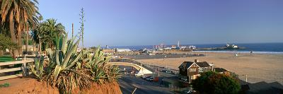 Santa Monica, Overlooking the Beach and Santa Monica Pier, California--Photographic Print