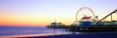 Santa Monica Pier at Sunset, California--Photographic Print