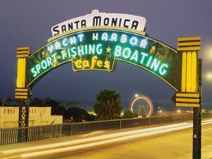 Santa Monica Pier Sign Santa Monica CA