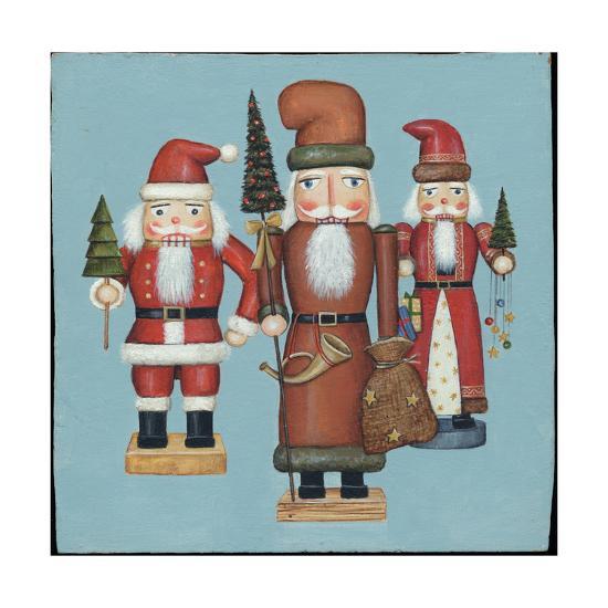 Santa Nutcrackers-David Cater Brown-Art Print
