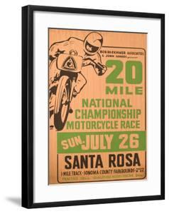 Motocross motorsports vintage art artwork for sale for Angel motors santa rosa ca