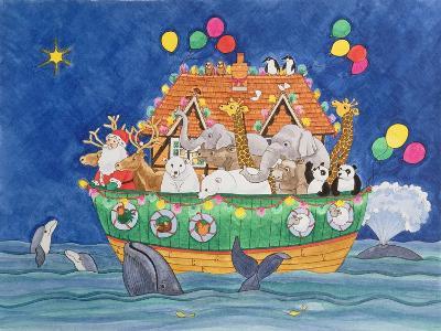 Santa's Ark-Linda Benton-Giclee Print