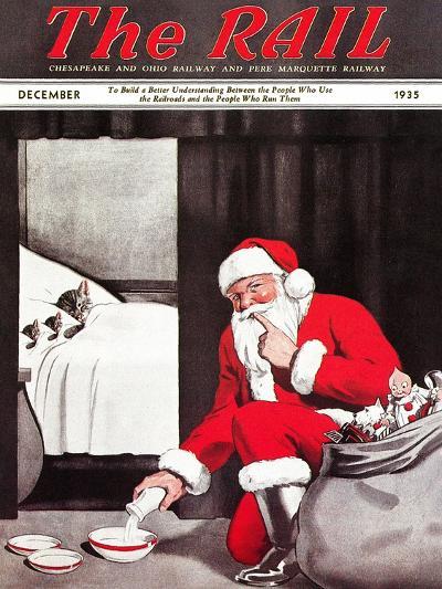 Santa's Gift-Charles Bracker-Giclee Print