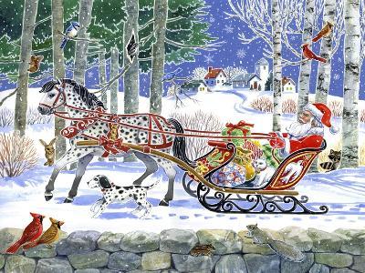 Santa's Sleigh Ride-Geraldine Aikman-Giclee Print