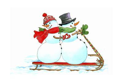 Santa's Snowmen-Wendy Edelson-Giclee Print