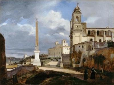 Santa Trinità Dei Monti and Villa Medici in Rom-Fran?ois Marius Granet-Giclee Print