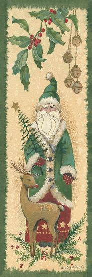 Santa with Reindeer-Anita Phillips-Art Print