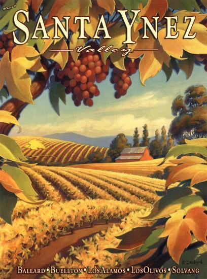 Santa Ynez Valley-Kerne Erickson-Art Print