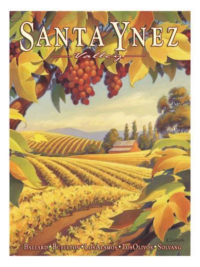 Santa Ynez Valley-Kerne Erickson-Giclee Print