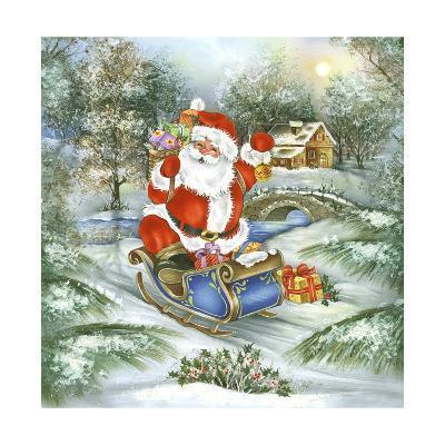 Santa-DBK-Art Licensing-Giclee Print