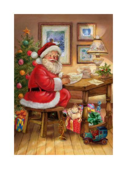 Santa-Art House Design-Giclee Print