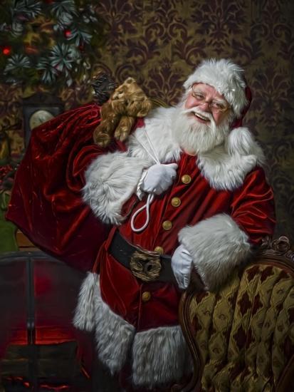 Santa-Santa?s Workshop-Giclee Print