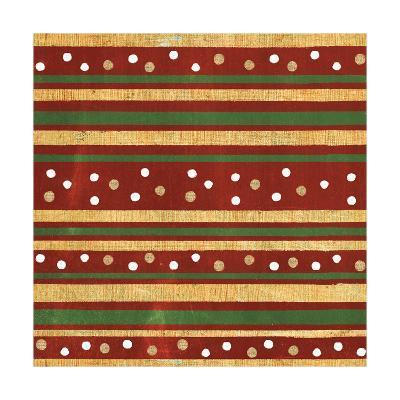 Santas List Pattern XI-Janelle Penner-Art Print