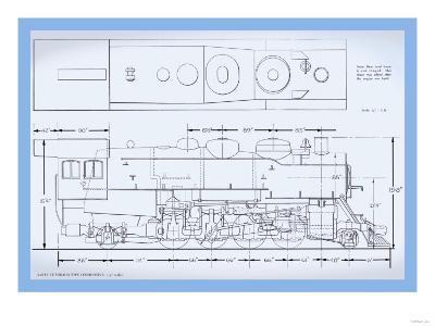 Sante Fe Mikado Type Locomotive--Art Print