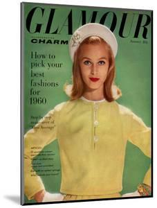 Glamour Cover - January 1960 by Sante Forlano