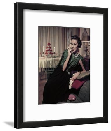 Glamour - December 1956 - Woman Smoking at Home
