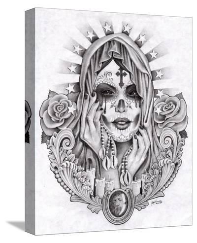 Sante Muerte-Mouse Lopez-Stretched Canvas Print