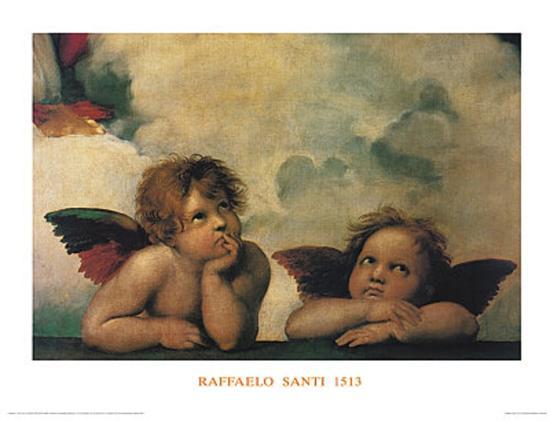 Santi Sixtinische Madonna Detail-Raphael-Art Print