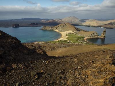 Santiago Island Seen from Bartolome Island, Galapagos Islands-Tim Laman-Photographic Print