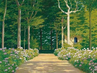 Hydrangeas on a Garden Path, 1929 by Santiago Rusinol i Prats