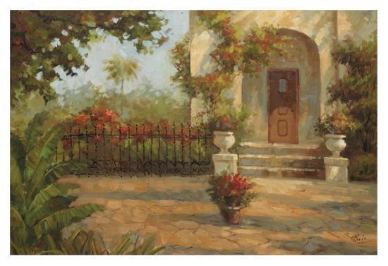 Santiago's Courtyard-Enrique Bolo-Art Print