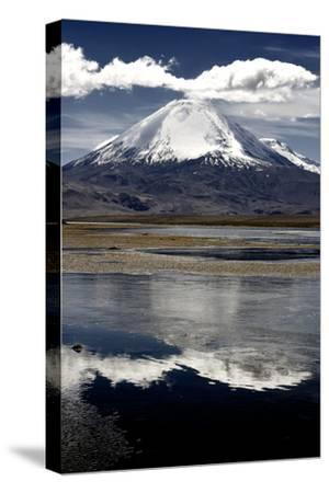 Snow Capped Parinacota Volcano