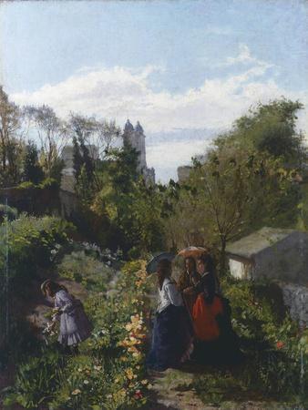 People in Garden, 1871